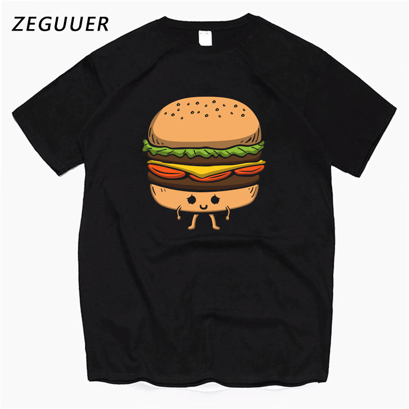 No Diet Today Short Sleeve T-Shirt O-Neck For Men Fitness Tops Print Loose Black Cotton Harajuku Adventure Game T-Shirt Size image