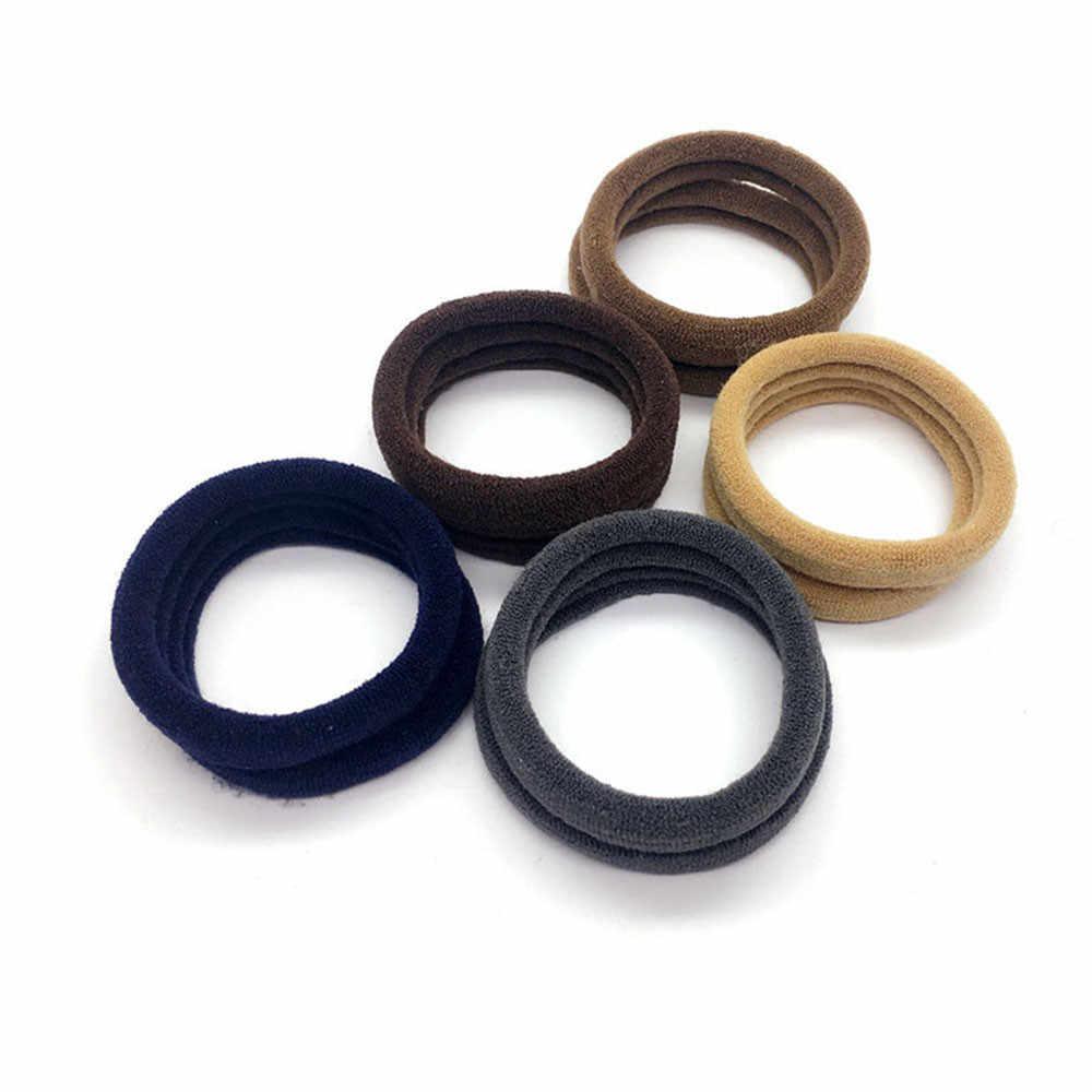 Simple femmes filles cheveux bandeau cravates corde anneau élastique bandeau élastique pour queue de cheval nouvelle fille cheveux anneau 20 pièces couleur unie accessoires