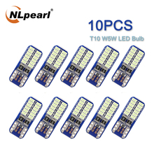 NLpearl 10X Signal Lamp T10 W5W Led 194 168 Bulbs 12V 3014 24SMD LED Canbus Car License Plate Lamps Interior Reading Light