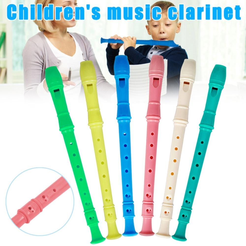 8 Holes Long Flute Instrument For Children Educational Tool Musical Soprano ABS Recorder Education Develop With Cleaning Stick