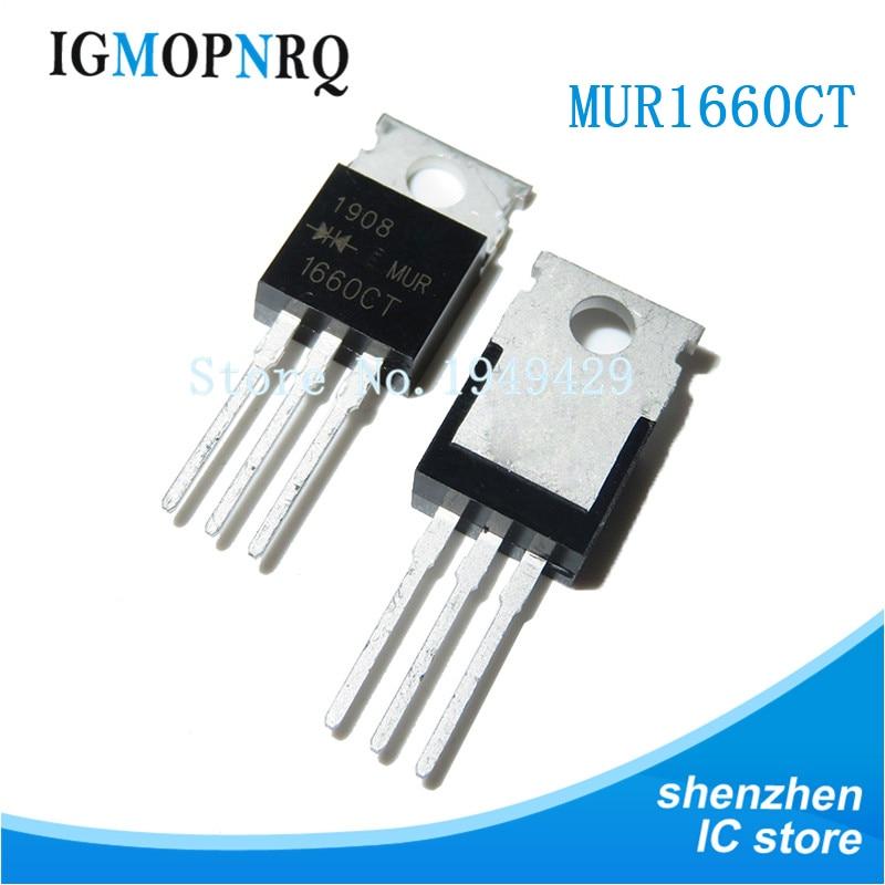 10PCS MUR1660CT-200 MUR1660 TO220 U1660G 600V 16A nuevo original