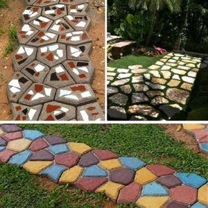 Садовая тротуарная форма, сделай сам, дорожка, ручная мощение, инструмент для кирпича, шаговый каменный блок, тротуарная форма для зданий