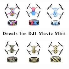 Mavic Mini pellicola protettiva adesivi in PVC decalcomanie impermeabili antigraffio UAV Full Cover Skin per DJI Mavic Mini Drone accessori