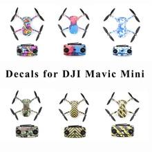 Mavic 미니 보호 필름 PVC 스티커 방수 스크래치 방지 데칼 UAV 전체 커버 스킨 DJI Mavic 미니 드론 액세서리