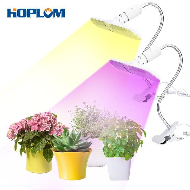 Luces de crecimiento, Modo 2 plegable 220V 75W 152LED, luces de crecimiento para plantas de espectro completo y espectro rojo/azul con cuello de cisne ajustables