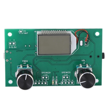 FM Radio Receiver Module 87-108MHz Frequency Modulation Stereo Receiving Board with LCD Digital Display 3-5V DSP PLL nktech cze 15b adjustable 0 3w 15w 87mhz 108mhz with pc control fm transmitter broadcast radio station stereo lcd backlight