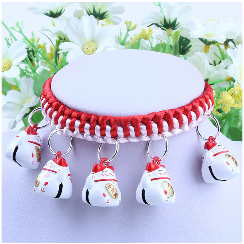 DIY Pet Dog Necklace Bell Necklace Teddy Cat Small Puppy Accessories Dogs And Cats Bell Neck Ring