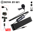 BOYA BY-M1 3.5mm Audio Video Record Lavalier Revers Clip Microfoon Voor IPhone Android Mac Vlog Microfoon Voor DSLR Camcorder Recorder
