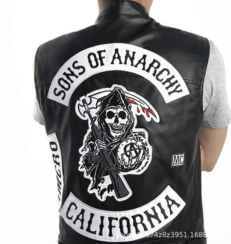New Arrival Hot TV Sons Of Anarchy Cosplay Costume Mens Zipper Hoodie Warm Coat Jacket Autumn Winter Sweatshirts Hoodie