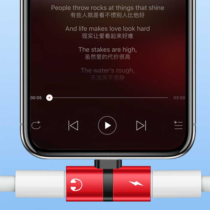 2in1 المزدوج منافذ منظم سماعة غطاء إطار هاتف محمول آيفون 7 8 Plus X XS ماكس XR شاحن محول صوت الفاصل اكسسوارات