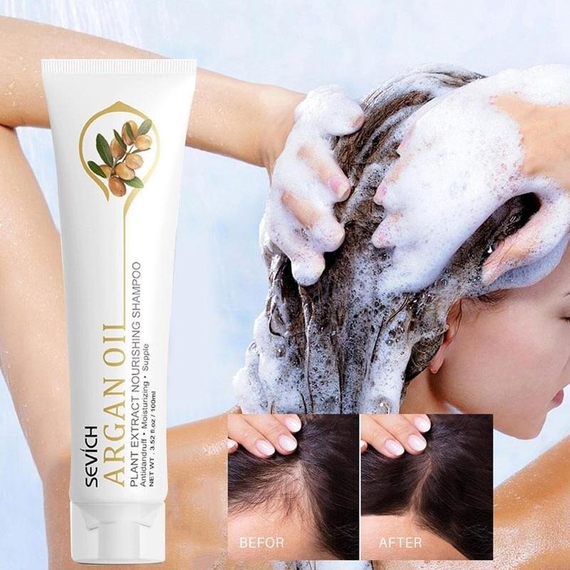 100ml Argan Oil Hair Shampoo Moisturizing Hair Original Plant Hair Care Treatment Nourishing Shampoo For Anti Hair Loss