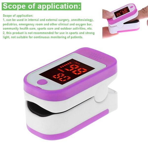Digital Finger Oximeter OLED Pulse Oximeter Display Heart Rate Monitor SPO2 PR Pulsioximetro J8