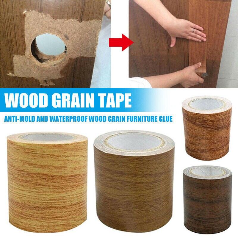 1PCS Artificial Wood Grain Tape High Adhesive Repair Masking Tape For Home Furniture Care Waterproof Anti-mold Tape 5.7cmx4.57m