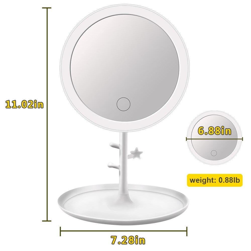 Туалетный столик светодиодный зеркало для макияжа с сенсорным