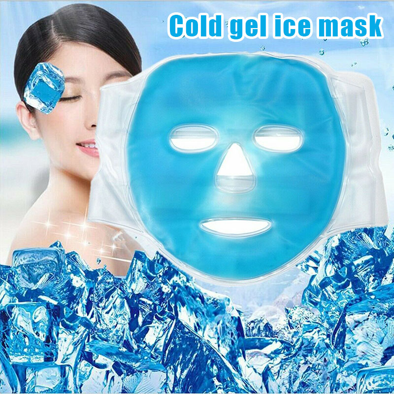 Best Cold Gel Face Mask Ice Compress Blue Full Face Cooling Mask Fatigue Relief Relaxation Pad With Cold Pack Faicial