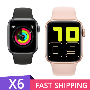 X6 Smart Watch 44mm Heart Rate Monitor Men Women Smartwatch for IOS iPhone 11 Android Phone PK IWO 11 10 8 IWO 12 Pro Drop Ship