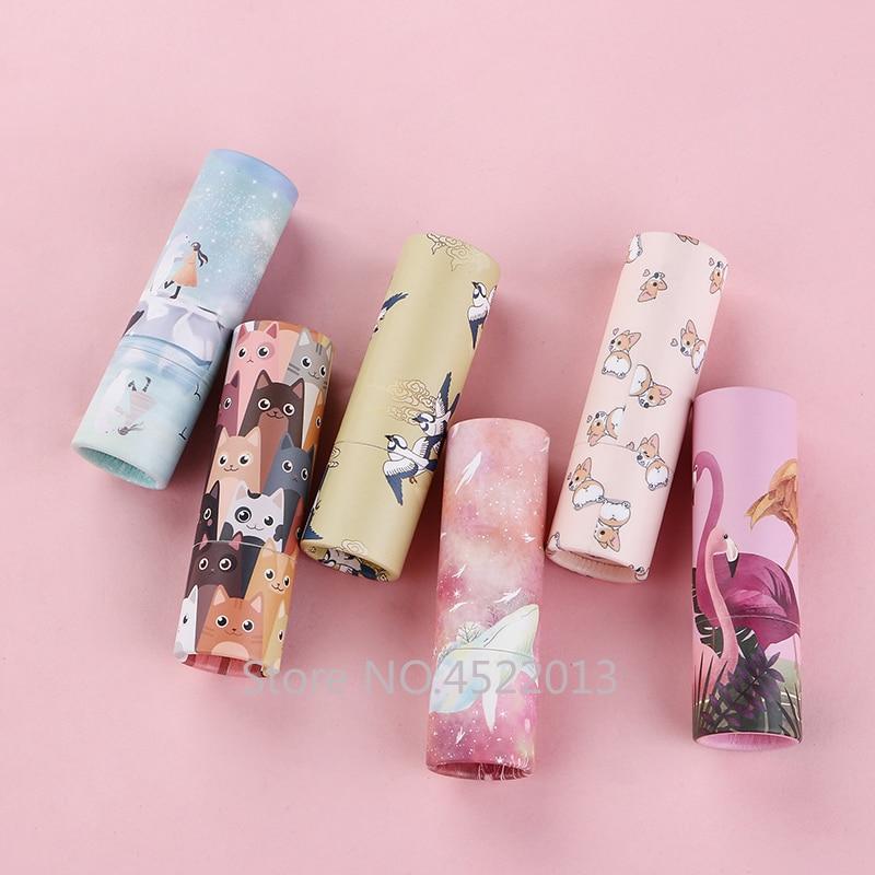 5/10/30/50/100pcs 12.1mm Empty Makeup Paper Lipstick Tube Kraft Beauty Concealer Paper Lipstick Tube Box,DIY Lip Balm Container