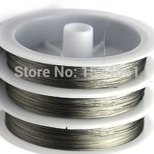 Рулон 50-20 м Серебряный тон бисерная проволока 0,3-0,8 мм* вощеная нить для кожаного шнура веревка медная проволока