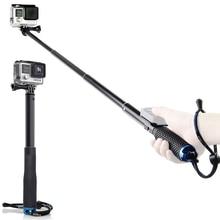 Купить с кэшбэком Sports Surfing Diving Extendable selfie Stick Pole Monopod For GoPro Hero8 Hero 7 6 Hero5 4 3+ SJCAM SJ4000 Yi 4K Action camera
