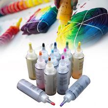 Fabric-Accessories Clothing Tie-Dye-Kit Textile-Paints DIY One-Step 12pcs Permanent-Craft