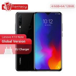 Глобальная версия Lenovo K10 Примечание 64 Гб 128 Snapdragon 710 Octa, четыре ядра, смартфон с функцией отпечатков пальцев (6,3 дюймовым экраном Тройная камер...