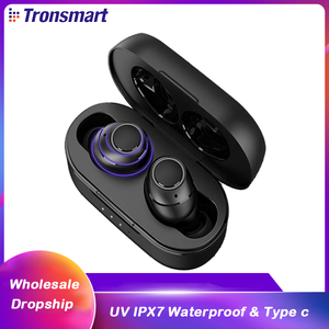 Tronsmart Onyx Free TWS беспроводные наушники типа c Bluetooth Handsfree наушники Aptx UV IPX7 водонепроницаемые 35H time Mono/стереонаушники