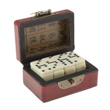 Tournament Double Six Dominoes Set with Storage Box Classic Entertainment