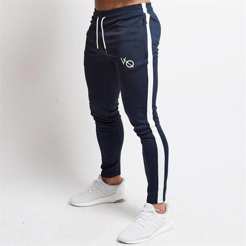 Mens Joggers Pants Fitness Men Sportswear Tracksuit Bottoms Skinny Sweatpants Trousers Black Gyms Jogger Track Pants