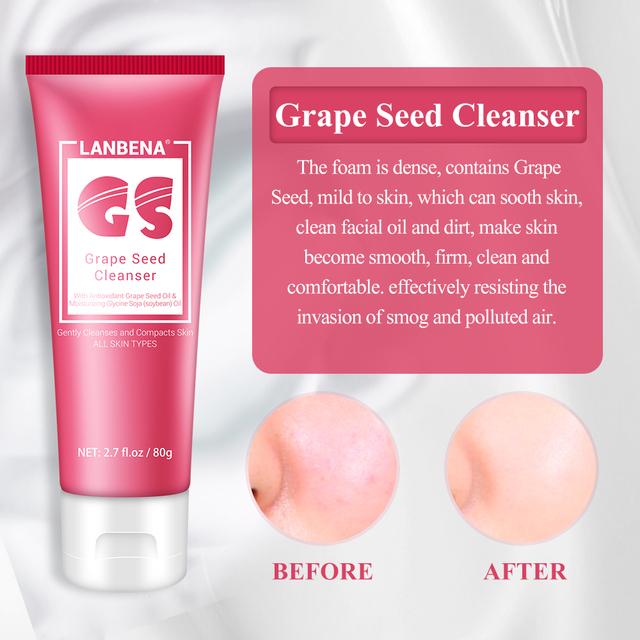 LANBENA Grape Seed Anti Aging Series Radiation Protection Remove Wrinkle Eye Deep Nutrition Face Cream Facial Cleanser Skin care