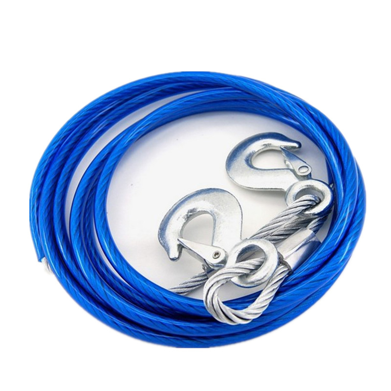 Car-following Good Automotive Trailer Rope 5 T 4 M Steel Wire Tow Strap Hand Holding Rope Car Emergency Equipment Steel Wire Hig