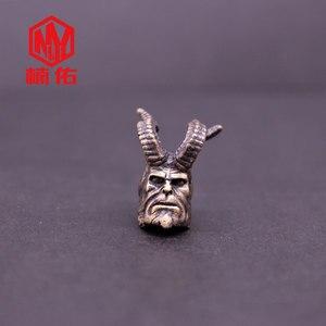 1 шт., для повседневного использования, Открытый Инструменты латунь Хеллбой Паракорд Ножи брелок для ключей с бусинами Ножи подвесные аксес...