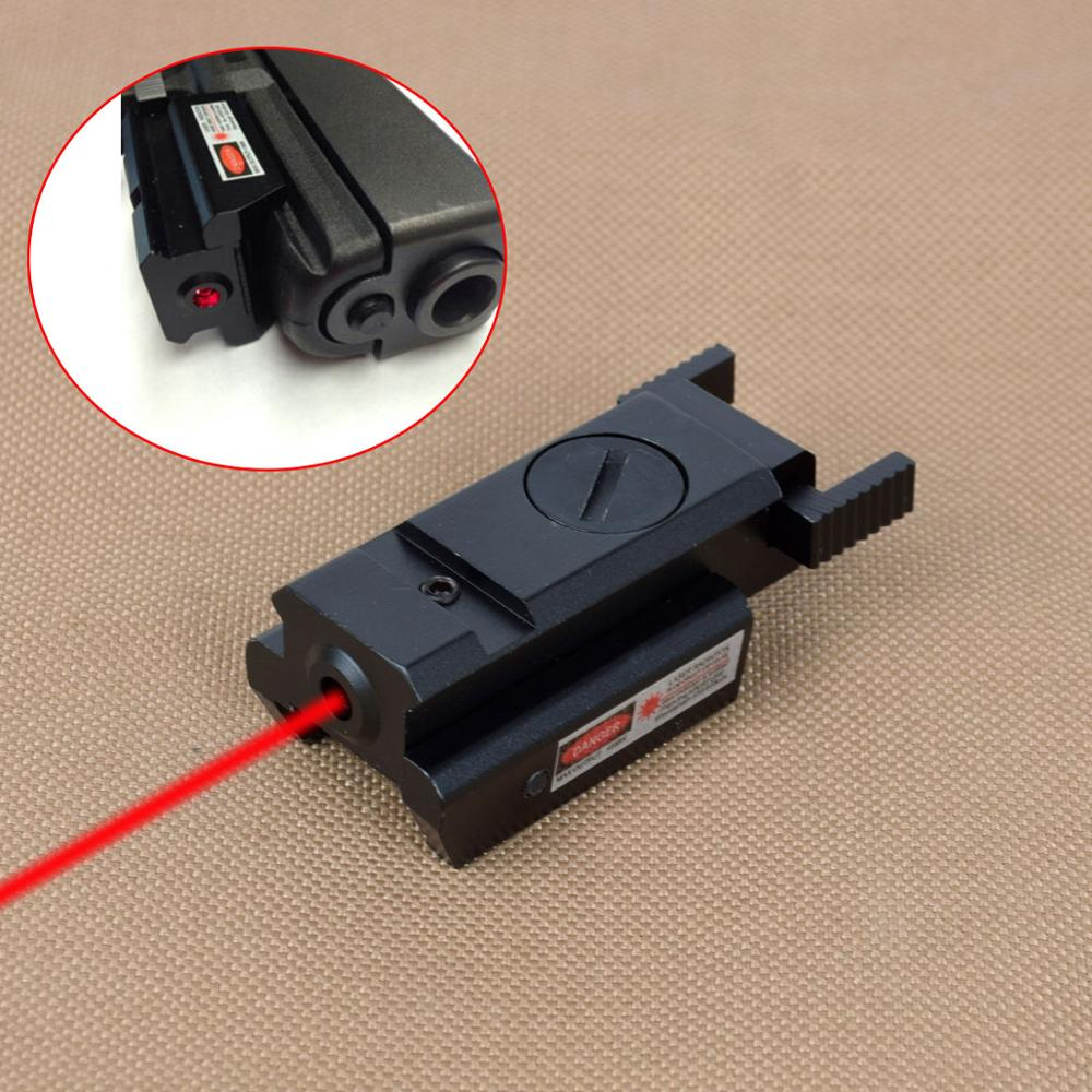 Tactical Powerful Mini Red Dot Laser Sight For Airsoft Pistol Gun With 20mm Weaver Picatinny Rail For Air Gun Glock 17 19 22 23-0