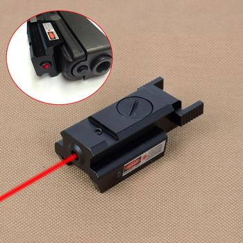 Tactical Powerful Mini Red Dot Laser Sight For Airsoft Pistol Gun With 20mm Weaver Picatinny Rail For Air Gun Glock 17 19 22 23