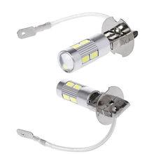 Lampadina corrente 10SMD 5630 5730 lampada automatica principale luminosa eccellente di durata della vita lunga di alto potere della luce H3 LED dell'automobile di 2 pz/lotto