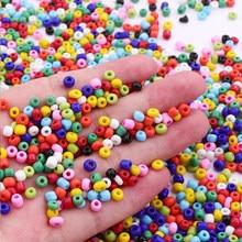 1000 pçs 2mm áustria pequena redonda cor sólida checa spacer semente de vidro diy miyuki grânulos para crianças jóias que fazem a decoração de costura