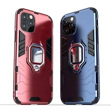Case Voor iPhone 11 Pro 11 Pro Max Shockproof Armor Stand Auto Ring Telefoon Cover voor Apple iPhone 11 Pro XS XR 6S 7 8 Plus(China)
