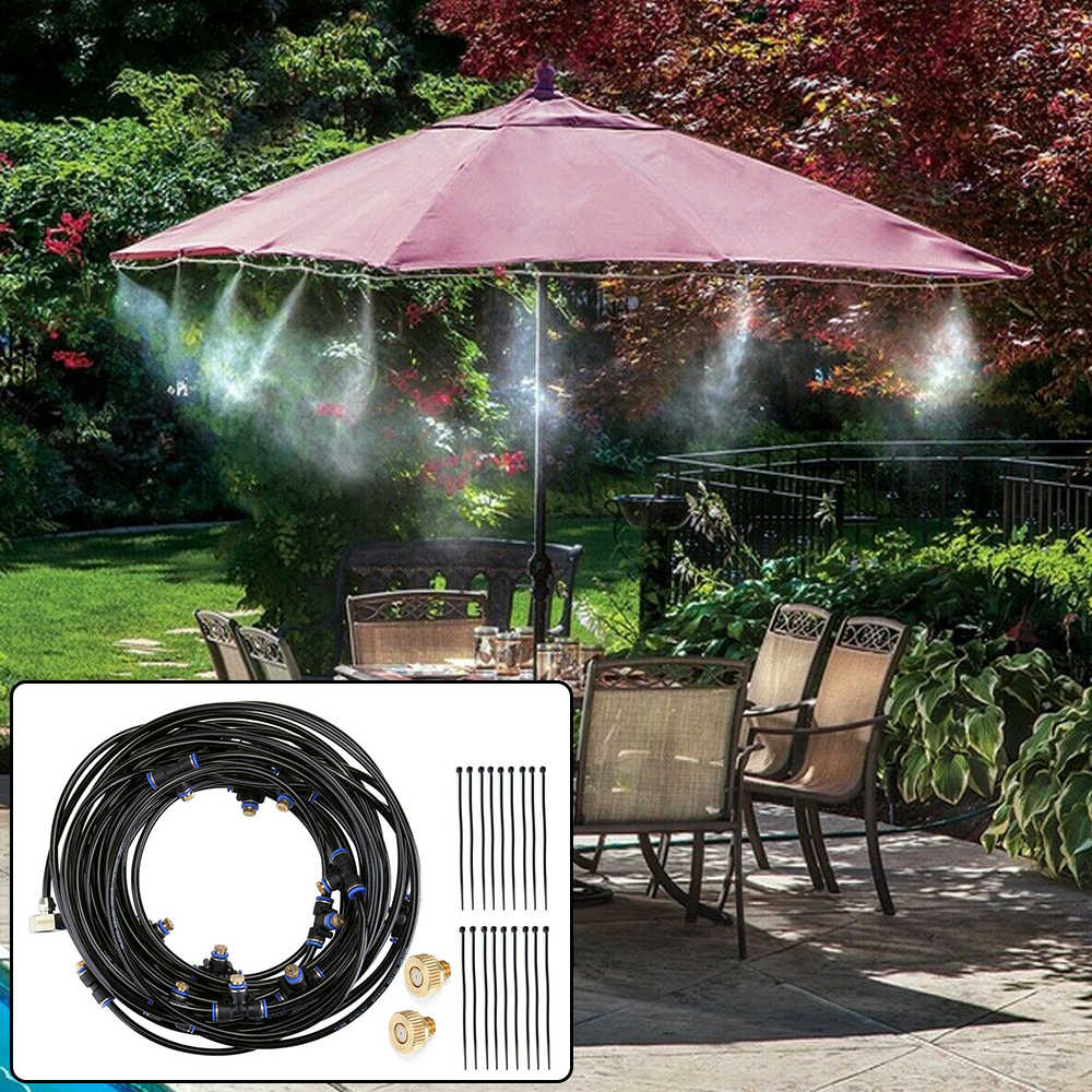 42ft Outdoor Patio Water Mister Mist Nozzles Misting Cooling System Fan Cooler Great For Cooling Your Outdoor Living Areas Garden Sprinklers Aliexpress