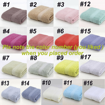 Japanese Pure Cotton Super Absorbent Large Towel Face/Bath Towel Thick Soft Bathroom Towels Comfortable Beach Towels 17 Colors