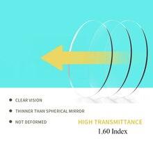 Sasamia 1.60 índice lentes ópticas claras anti reflexo miopia hyperopia prescrição lente para proteção uv do olho