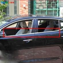 Для Kia Optima K5 2011 4 шт. нержавеющая сталь Боковая дверь подоконник отделка ремня Крышка автозапчасти элементы отделки автомобиля отделка окна