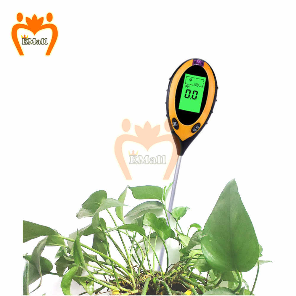 Ph-метр почвы 4 в 1, тестер влажности, температуры, интенсивности солнечного света, анализатор кислотности и щелочи для сада