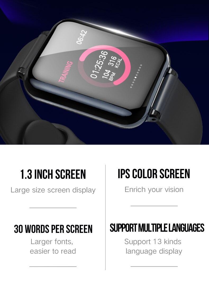 B57 Smart watch ip67 Waterproof Blood Pressure Heart Rate Sports Watch Women Men Wearable Bluetooth Smart Watch for Android iOS