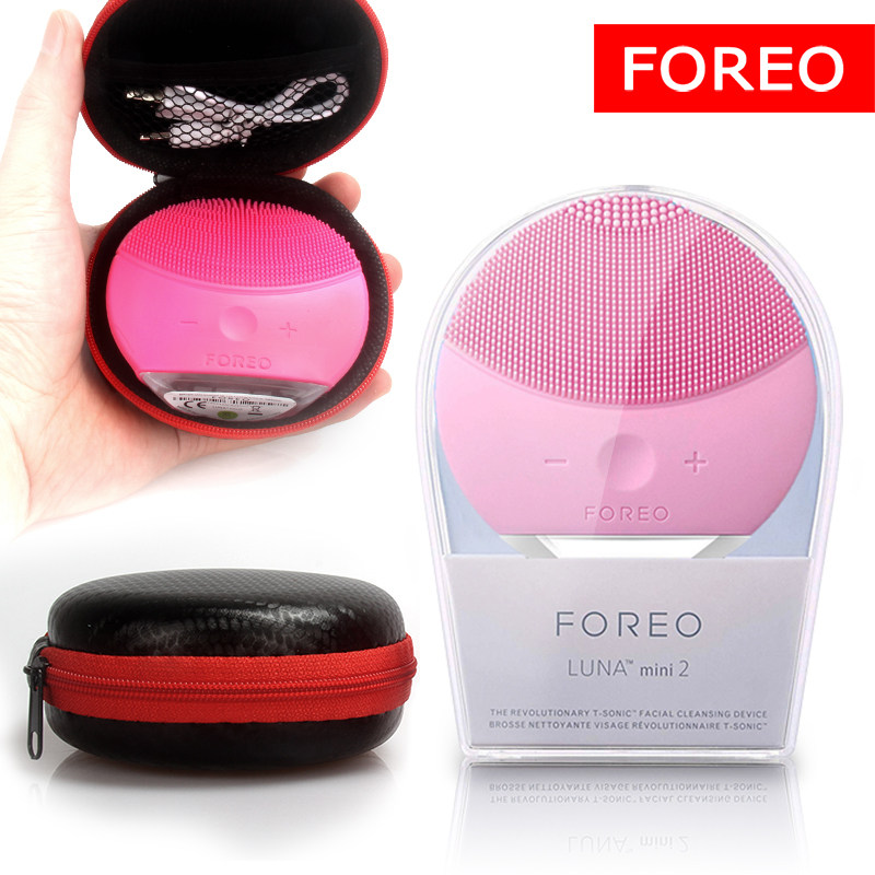 Foreo Luna Mini 2 limpieza facial silicone facial cleansing brush,Foreo Luna real LOGO, USB charging, waterproof, level 8
