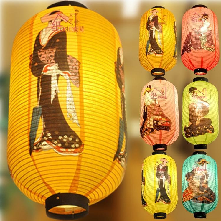 Paper Lantern Night Light Festival Lanterns Chinese Japanese Korea Sushi Shop LED Lamp Holiday Decor Home Decoration Accessories