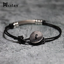 Minimalist Double Layer Leather Bracelet Men Women Jewelry Accessories Handmade Simple Hook Rope Braslet Vintage Charm Brazalete(China)