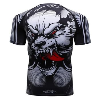 цена на MMA t shirt herren rashguard jiu jitsu bjj t shirt Langarm Fitness Muay Thai Boxing Sport Pullover mma rashguard boxen Jersey