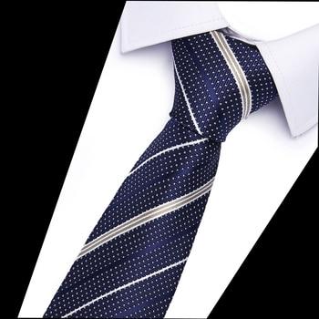 6cm Width Mens 100% Silk Ties New Fashion Plaid Neckties Jacquard Woven Slim Tie Business Wedding Stripe Neck Tie For Men цена 2017