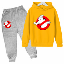 Children's 2021 New Spring Clothes Plant Ghostbusters Boys and Girls Sweater Hoodie Children and Teens Long Sleeves Pullover set