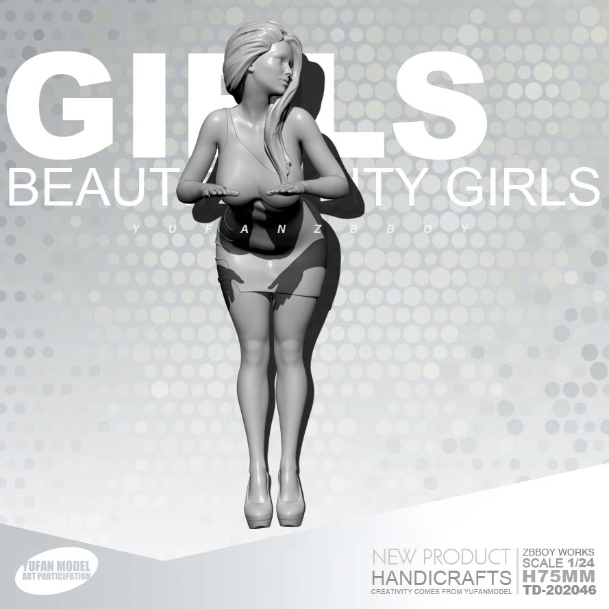 1/24 Reisn Figure Kits GIRLS Modern Girl Resin Soldier Self-assembled TD-202046