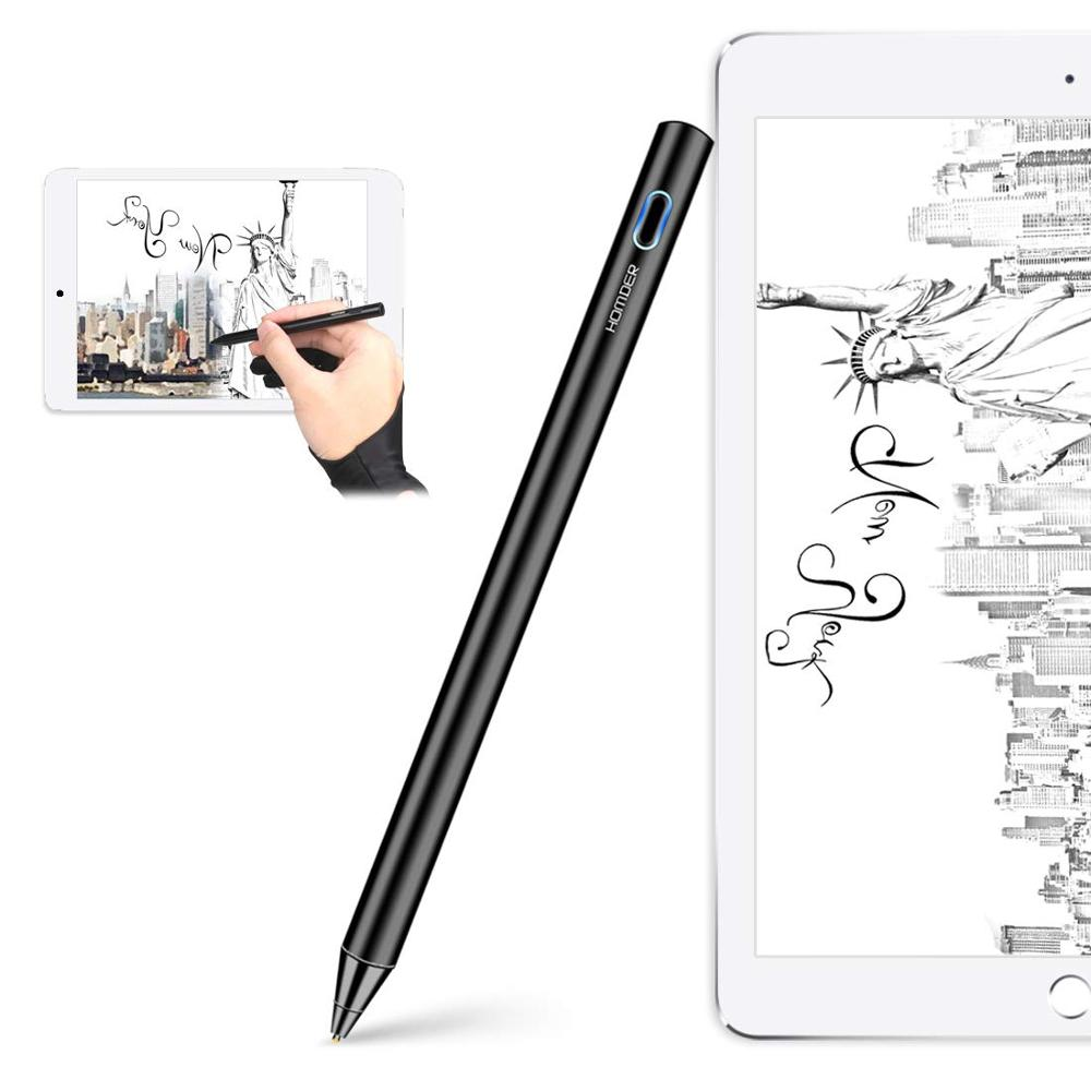 Homder Stylus Pen Fine Tip Active Digital Pencil for Touch Screens Apple iPad Samsung Tablets and Cellphones